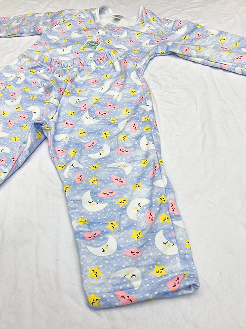 Pijama Flanela Lua Azul