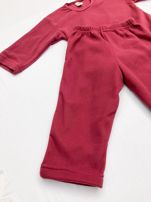 Pijama Fleece Vinho