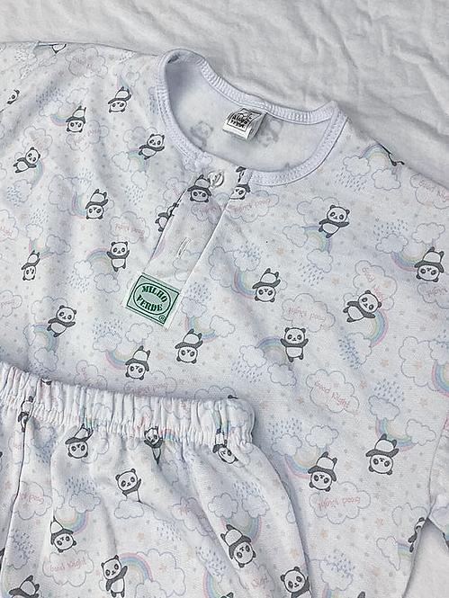 Pijama Flanela Panda Nuvem