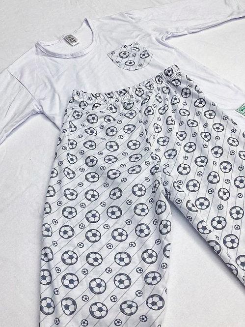 Pijama Malha Bola Futebol