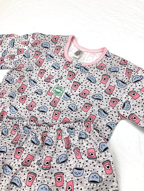 Pijama Flanela  Xícara Rosa