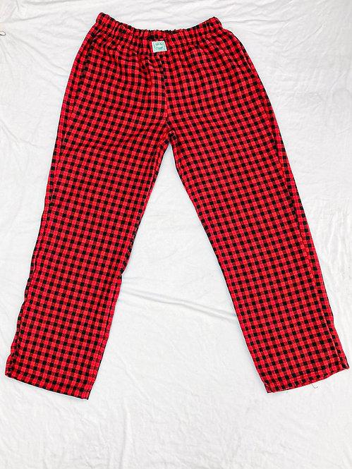 Calça Pijama Flanela mini Vermelho e Preto