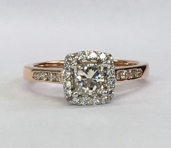 Remodeled 18ct rose gold and platinum ring.