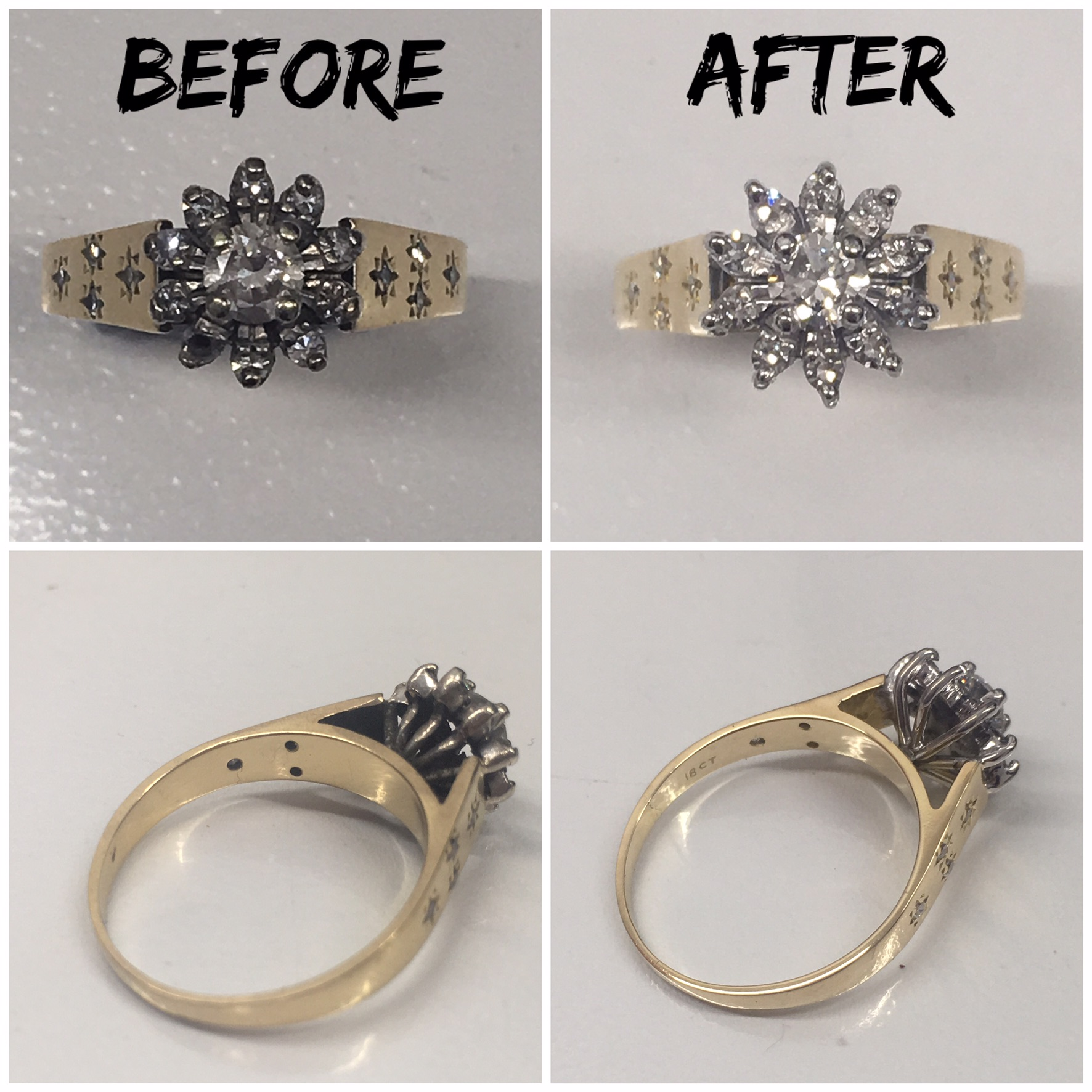 Repair Before and after