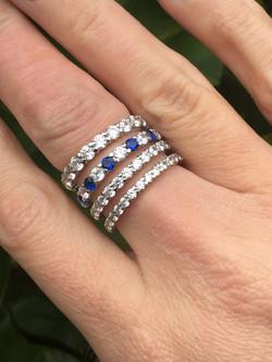 18ct white gold rings