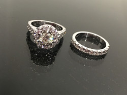 Remodel of customers ring into 18ct white gold.