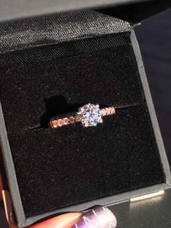 18ct Rose and white gold engagement ring
