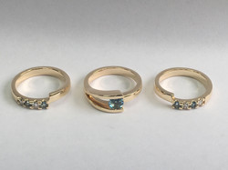 Remodel of 9ct yellow gold rings.