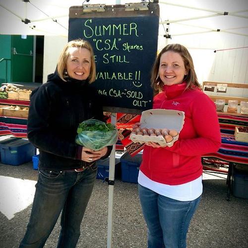 Beautiful day at Squamish Market ☀ Sprin