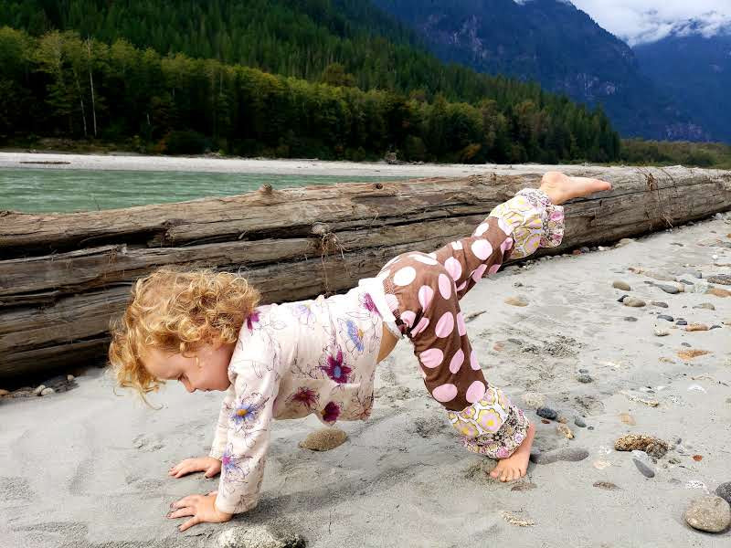 Yoga at the river