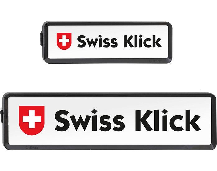 SwissKlick Nummernrahmen-Set schwarz, 30 × 8 cm/50 × 11 cm