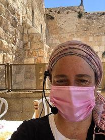 Leah leading Bat Mitzvah at Wall