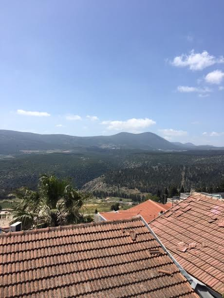 View from Tzfat in Galilee