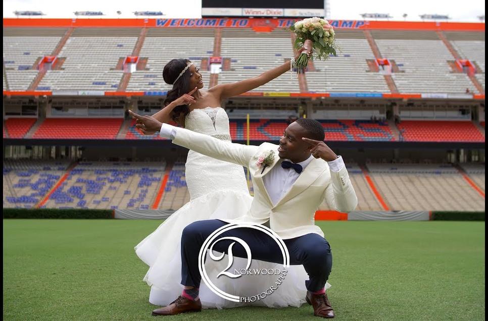 The LaFrance's Wedding Trailer | Ben Hill Griffin Stadium
