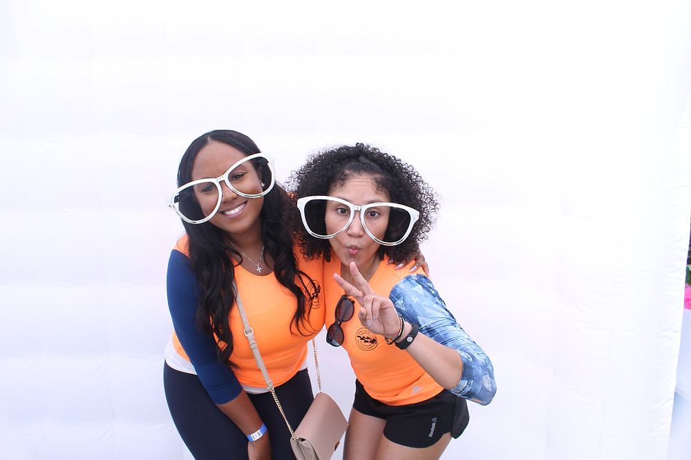 Goofy glasses inside the USTA Orlando Photo booth by D. Norwood Photography