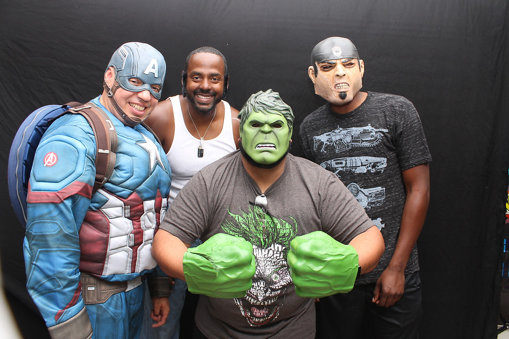 Incredible Hulk inside the Orlando Photo booth by D. Norwood Photography