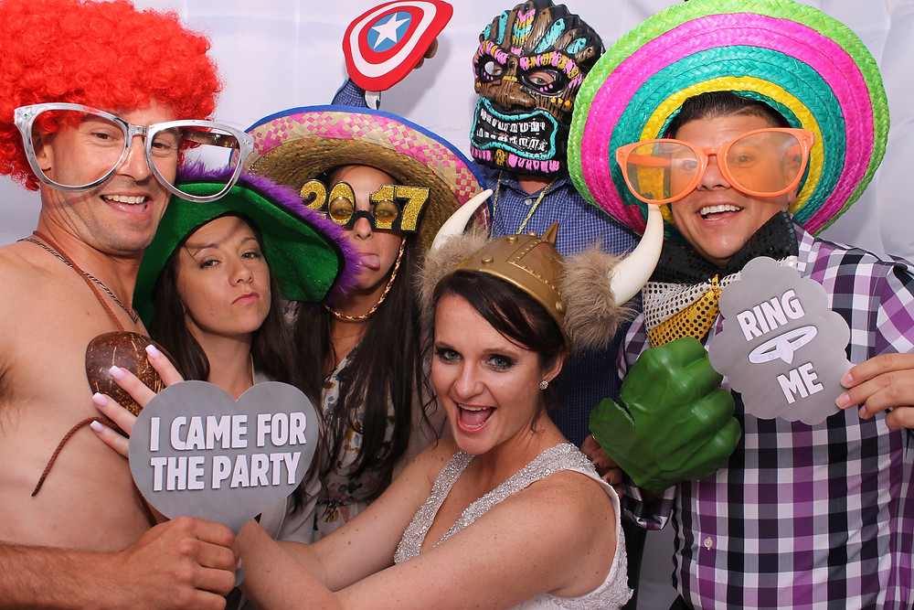 photo booth hats inside the Gainesville Photo booth by D. Norwood Photography