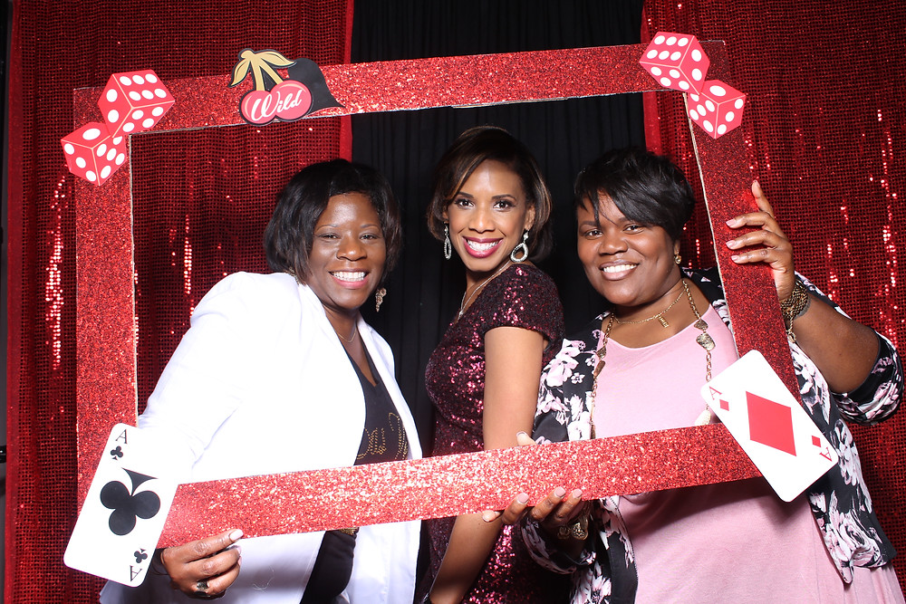 Picture frames inside the Jacksonville Photo booth by D. Norwood Photography