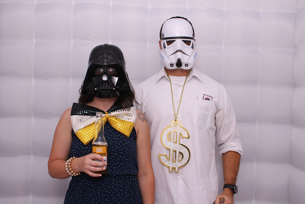 Star wars mask inside the Orlando Photo booth by D. Norwood Photography