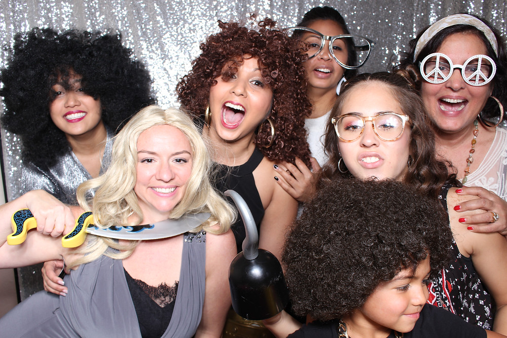 photo booth wigs in the Orlando Photo booth by D. Norwood Photography