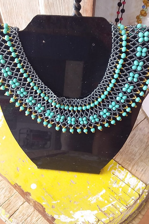 Ruth Bader Ginsberg Necklace Turquoise Woman's Beading Co-op