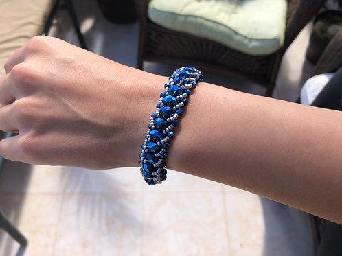 Bracelet Blue - Woman's Beading Co-op