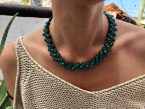 Green Necklace - Woman's Beading Co-op