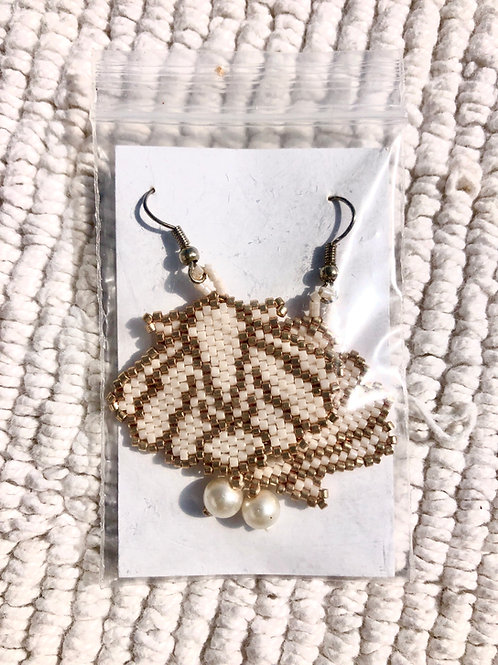 Shell Earrings - Woman's Beading Co-op