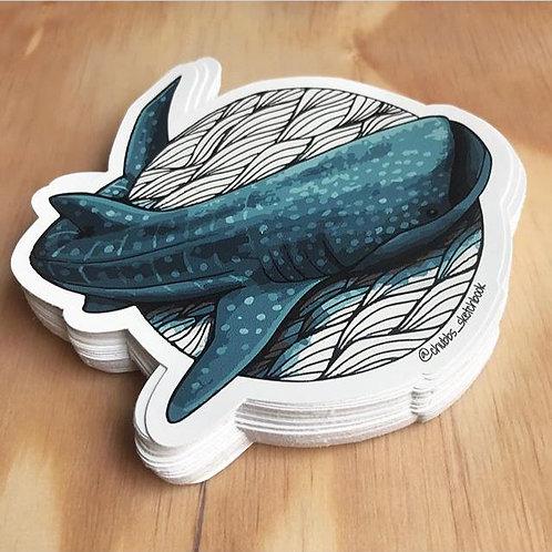 Whale Shark Sticker - Chubbs Sketchbook