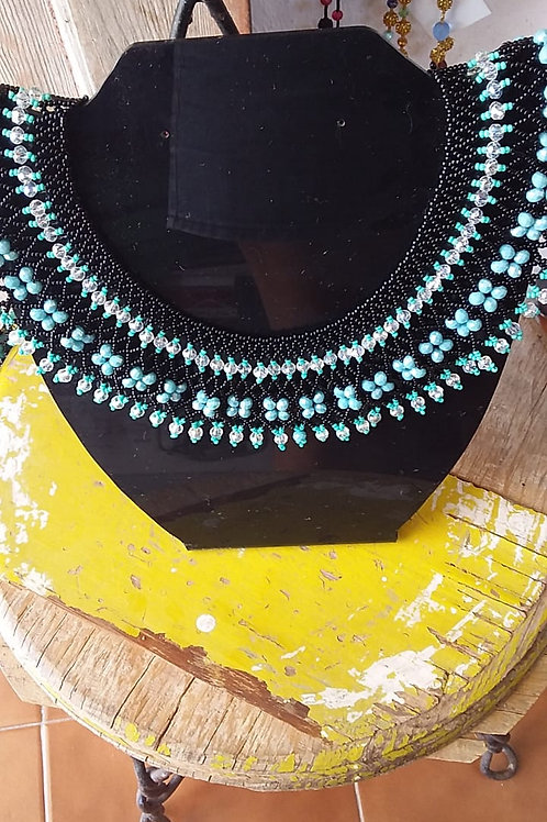 Ruth Bader Ginsberg Necklace RBG Black Blue Woman's Beading Co-op