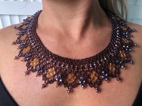 Necklace Fiesta Brown- Woman's Beading Co-op