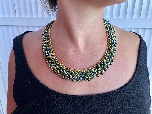 Golden party Necklace - Woman's Beading Co-op
