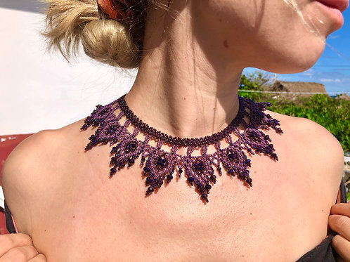 Necklace Purple- Woman's Beading Co-op