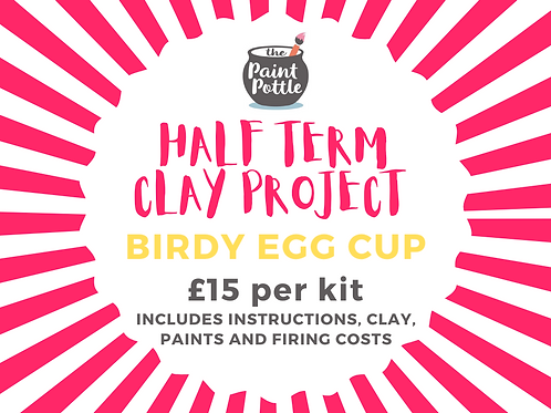 Clay To-Go Birdy Egg Cup Kit