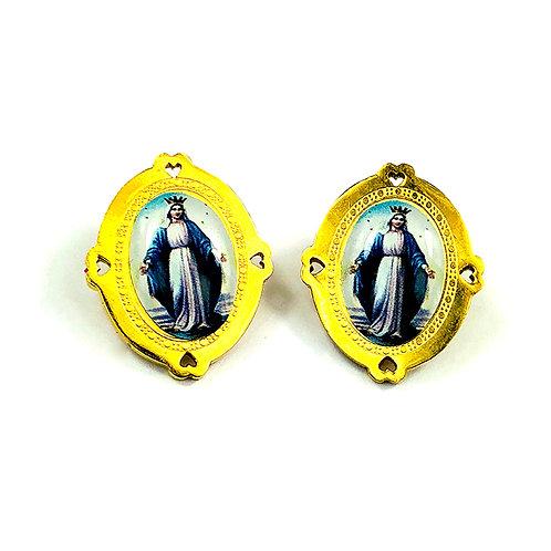 La Virgen Earrings (Blue)