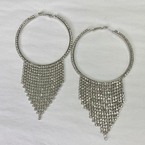 Tassel Hoops - Silver