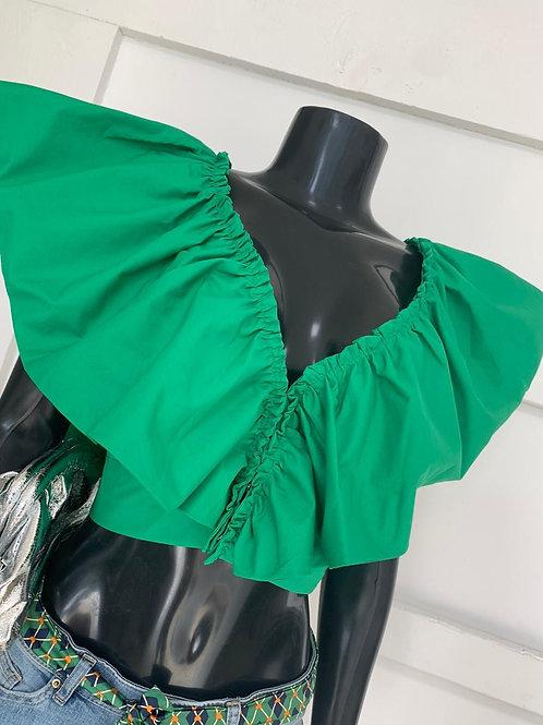 Green Envy Crop Top