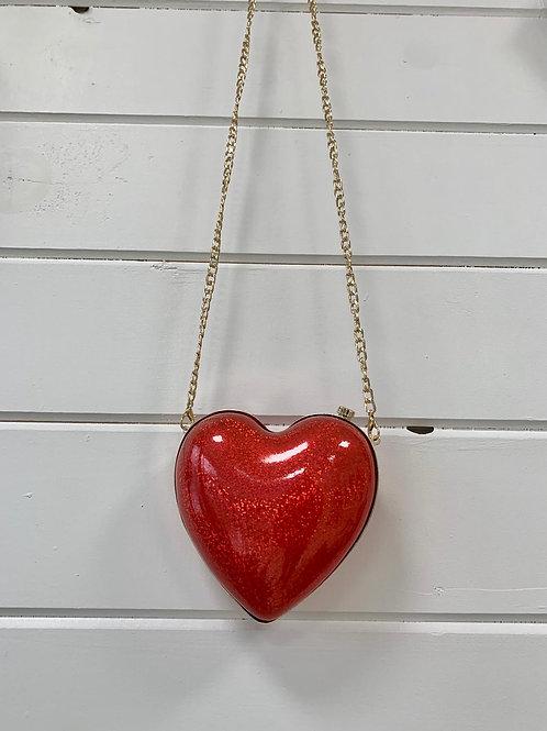 Red Heart Clutch
