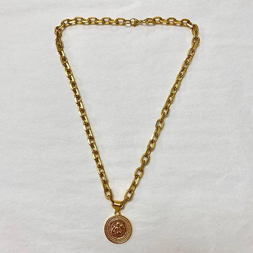 Praise Allah Gold Chain