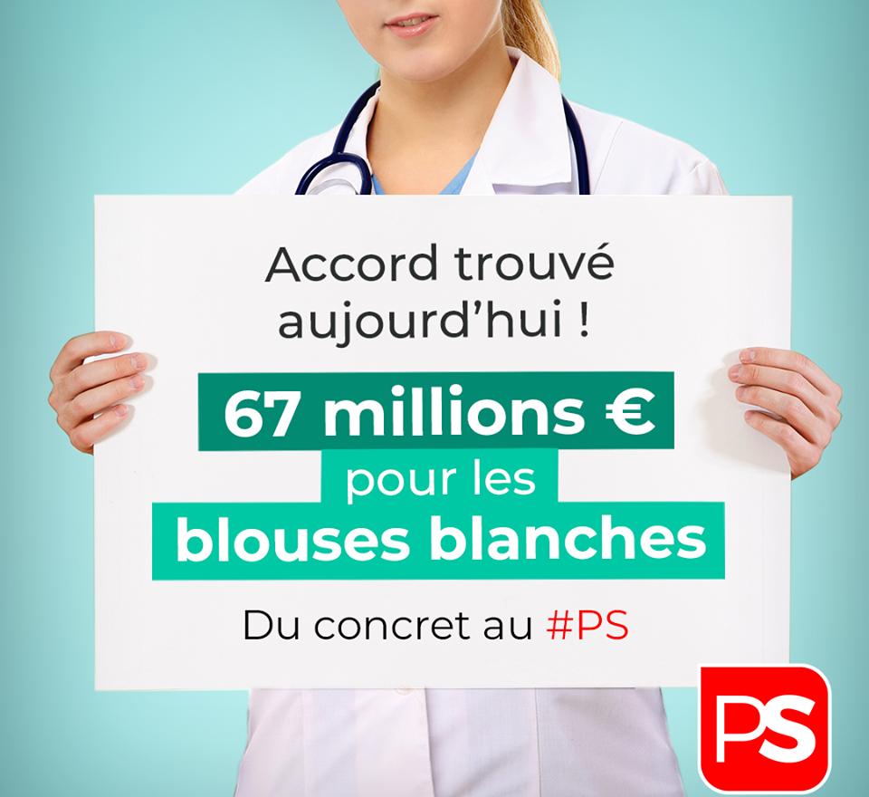 67 millions d'euros pour les blouses blanches !