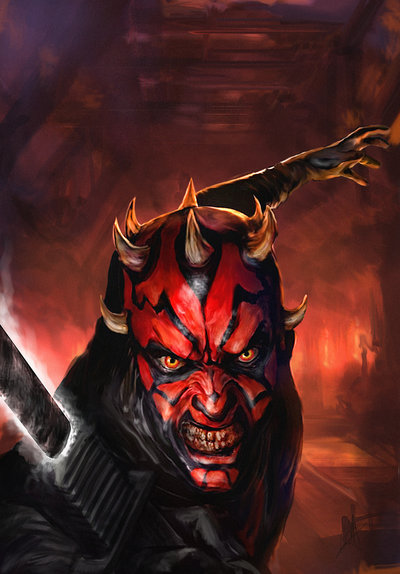 darth_maul_cover__sdcc_variant__by_chrisscalf-d7szmmb