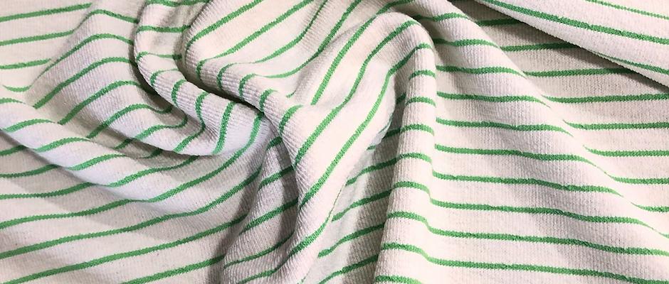 STRIPES GREEN FLUOR -Algodón efecto rizo