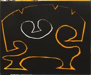 Linocut 15 x 13 cm 1989