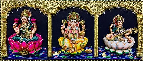 Lakshmi Ganesh Swaraswati Tanjur 3D