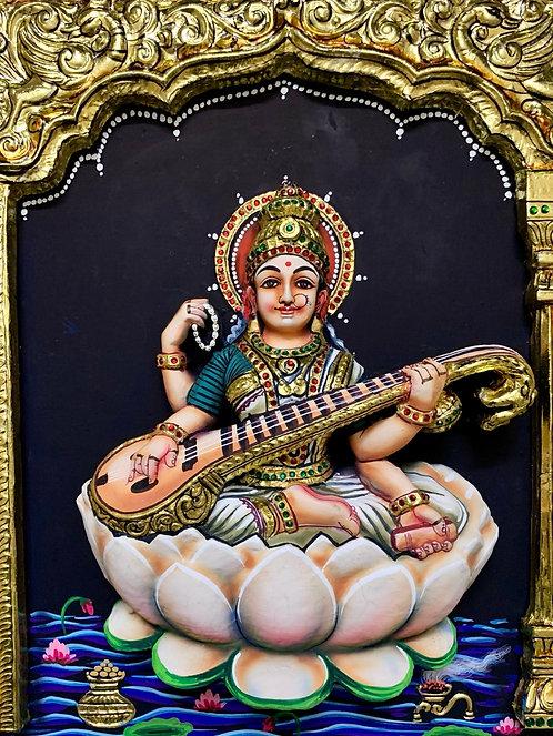 Saraswathi Devi  Tanjur 3D