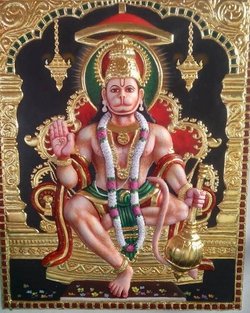 Abhaya Hasta Anjeneya Swami Tanjur 3D