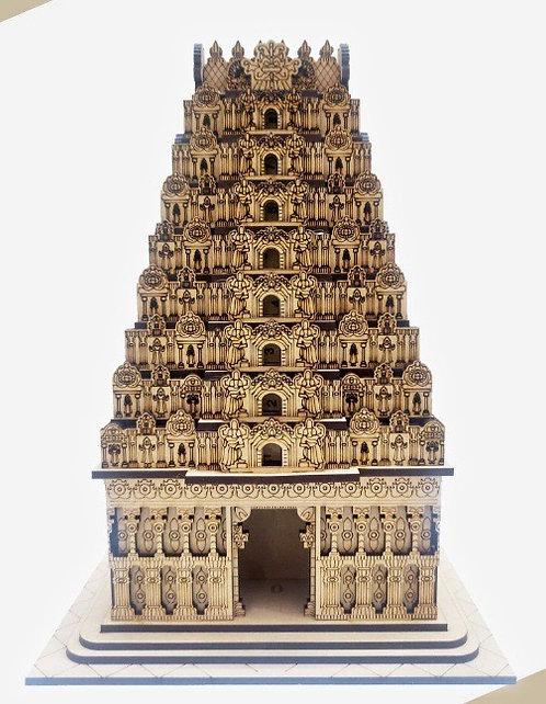 Madurai Menaskhi Temple Wooden Handycroft