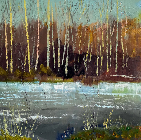 Birch-Trees-by-a-Frozen-Pond