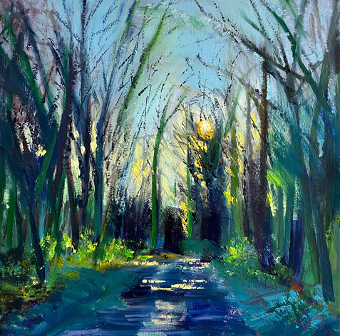 A-Pathway-Winter-Evening