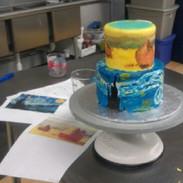 Van Gogh Hand Painitng on Cake